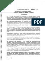 Acuerdo Ministerial No 0029 16 Normas Tecnicas Nacionales Para El Catastro de Bienes Inmuebles Urbanos Rurales y Avaluos de Bienes Operacion y Calculo de Tarifas de La Dinac