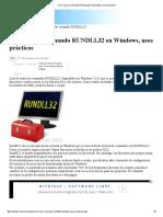 Como Usar El Comando RUNDLL32 en Windows, Usos Prácticos