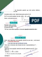 Equação Vetorial