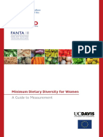 Minimum Dietary Diversity for Women FANTA