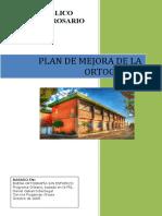 Plan de Mejora de La Ortografí c.p. Virgen Del Rosario