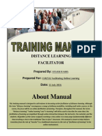 training manual distance learning faris