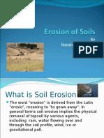 Erosion of Soils