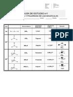 Guia 1 Estudio Estereoquimica (Geometria Molecular)