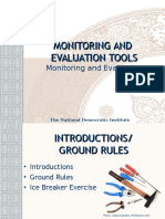 Monitoring and Evaluation Tools