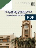 Flexible Curricula B.tech. B.arch. 2015 Onwards