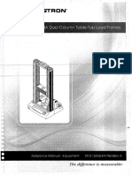 Instron 5569 Load Frame Manual