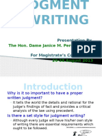 Judgment Writing by Dame Janice Pereira