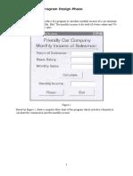 Questions Program Design Phase