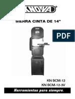 Manual Sierra Cinta KNOVA KN SCM-12