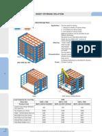 Horizontal Sheet Storage