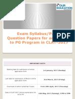CLAT PG 2017 Exam Syllabus