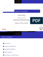 Probabilistic Opacity