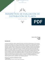 Parametros Para La Distribucion de Planta