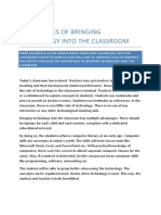 Advantages of Bringing Technology Into the Classroom