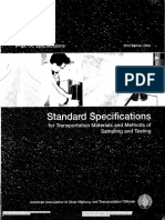 AASHTO Standard Specification for Transportation Materials and Method of Sampling & Testing (Part 1A)