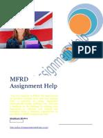MFRD Assignment Help