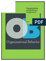 Organizations and Behavior Assignment
