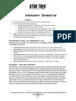 Star Trek Adventures Playtest Summary Sheets