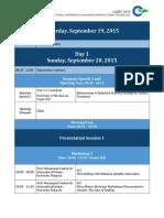 [ICAMT 2015] Program