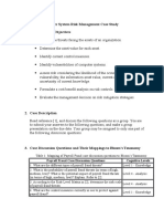 Risk Management Case Study