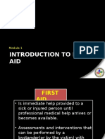 Module I - Introduction to First Aid