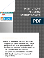 Institutions Assisting Entrepreneurs