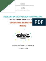 Programa de los Encuentros Digitales III TOPAKETA DIGITALETARA