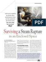Surviving a Steam Rupture in an Enclosed Space