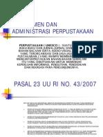 Manajemen Dan Administrasi Perpustakaan