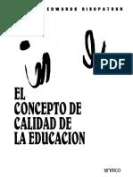 Concepto de Calidad de La Educación
