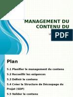 [2] Management Du Contenu Du Projet