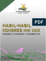 Hasil-hasil Kongres HMI Ke - XXIX