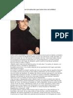 Qué importancia tiene la traducción que Lutero hizo de la Biblia