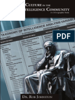 Analytic Culture in the United States Intelligence Community an Ethnographic Study
