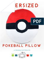 Pokeball Pillow Sewing Pattern