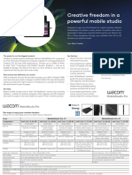 Wacom MobileStudio Pro FactSheet