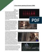 Analysis of Scream