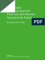 MSSSI_Estrategia Seguridad Del Paciente 2015-2020