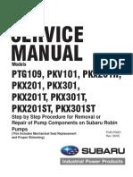 Subaru Pumps Pkv101 Pkx201h Pkx201 Pkx301 Pkx201st Pkx301st Pkx201t Pkx301t Service