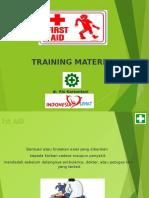 Basic First Aid Training Dr.Rio Karsontani