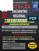 XII ERE- SUTE-ICA- 2017- CURSO DE CAPACITACIÓN DOCENTE 2017