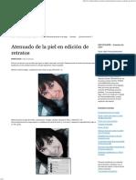 Atenuando La Piel en la edición de retratos
