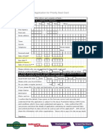 Priority Seat Card Application Form