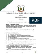 Reglamento Ejercito Peru Modificado