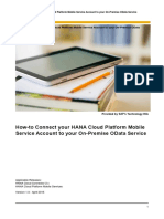 How-To Connect Your HANA Cloud Platform Mobile Service Account to Your on-Premise OData Service