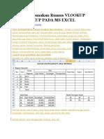 Cara Menggunakan Rumus Vlookup Dan Hlookup Pada Ms Excel