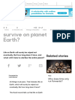 BBC Earth - How long will life survive on planet Earth