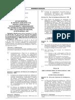 Ley que modifica el Decreto Legislativo 1141 Decreto Legislativo de fortalecimiento y modernización del Sistema de Inteligencia Nacional - SINA y de la Dirección Nacional de Inteligencia - DINI
