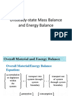 Unsteady-state Mass and Energy Balance